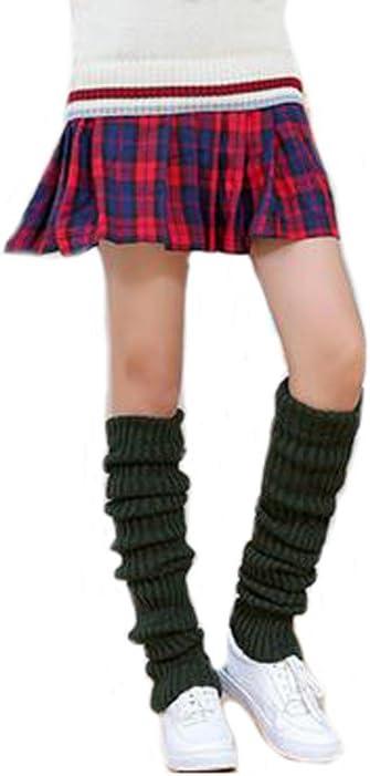 Ewanda store Women 80s Winter Extra Long Over Knee High Leg Warmers Knitted Thick Wool Crochet Boot Socks