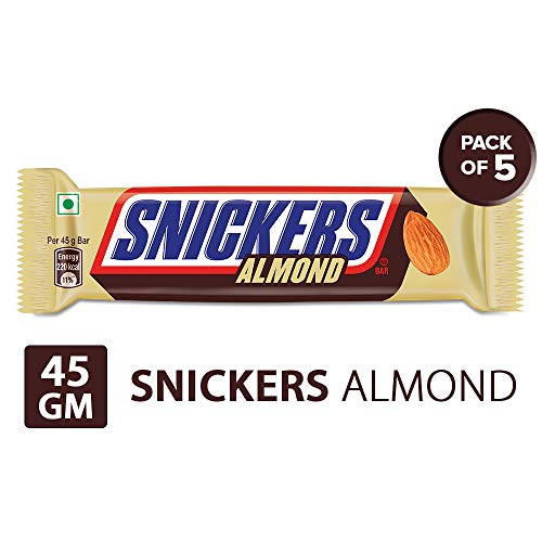 Snickers Almonds Chocolates, 45 gm (Pack of 5)