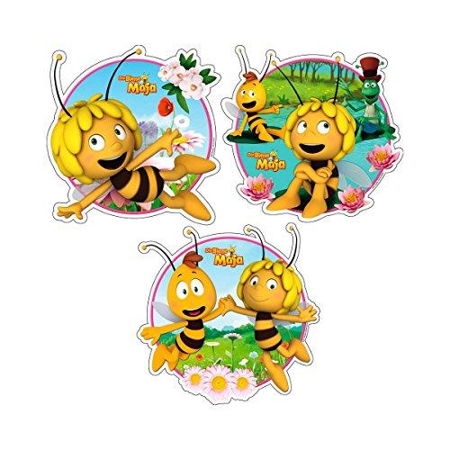 TRÖTSCH VERLAG Fensterbilder 3er Set - Die Biene Maja Wandtattoo Wanddeko, mehrfarbig