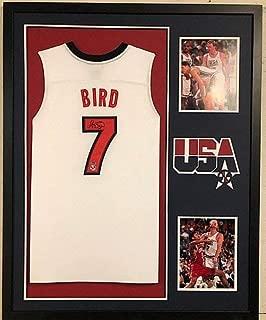 Framed Larry Bird Autographed Signed Usa Basketball Jersey Schwartz & Bird Holo - Certified Signature