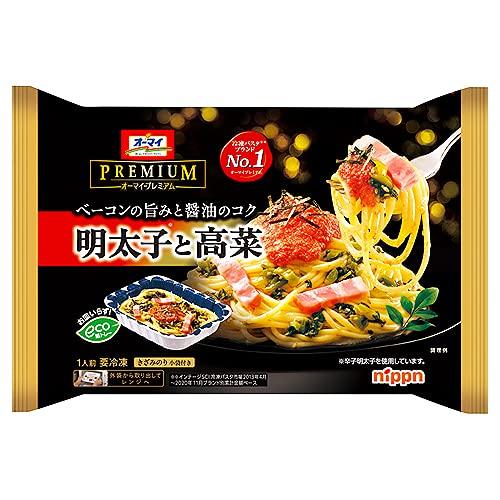 日本製粉 オーマイプレミアム明太子と高菜 270g ×12袋(送料無料)(冷凍食品)/レンジ調理 /明太子 /高菜 /ベーコン