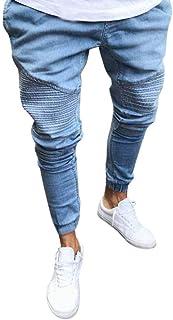 ea67e71c8fe1e3 LiucheHD-Pantaloni Da Uomo Jeans da Uomo Skinny Strappati Elasticizzati da Uomo  Pantaloni Jeans da