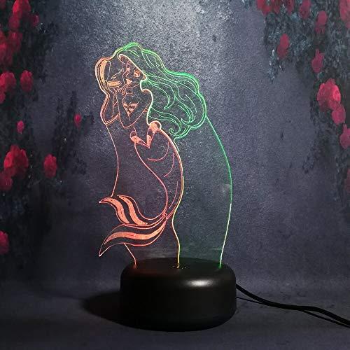 Hermosa forma de maquillaje de sirena linda Noche Novia Regalo de cumpleaños...