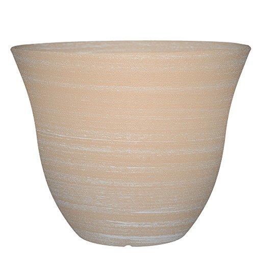 Honeysuckle Planter, Patio Pot, 15' Grained Beige