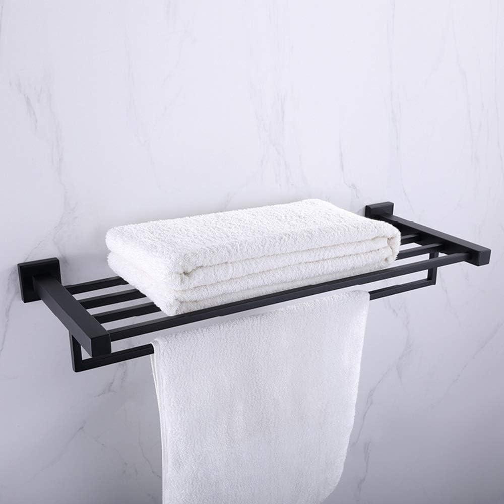 JUNJIAGAO-Kitchen Bathroom Rack Towel Shelf Ranking Max 86% OFF TOP6 Black
