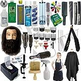 Liberty Supply Barber School Kit Beauty School Kit Men/Male Manikin Head Beard Clippers Practical Exam Approved Kit