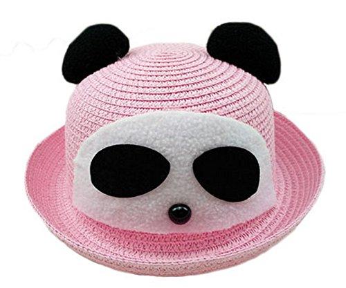 Koala Superstore Bello del Panda Ragazze del Cappello di Paglia di Sun di Estate della Benna Cappello Topper, Rosa