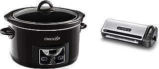 Crock-Pot SCCPRC507B-050 - Olla de cocción lenta digital + Foodsaver FFS017X-01 - Envasadora al vacío
