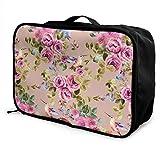 Travel Duffel Bag, Gym Bag Waterproof Fashion Lightweight Large Capacity Portable Duffel Bag for Men & Women (Flowers Floral)