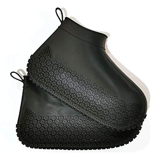 Regendichte Dekking Van De Schoen, Anti-Slip Dik En Wearable Mannen En Vrouwen Tube Rain Boots, PVC Shoe Cover Waterproof Rainy Day Voetovertrek,D,S