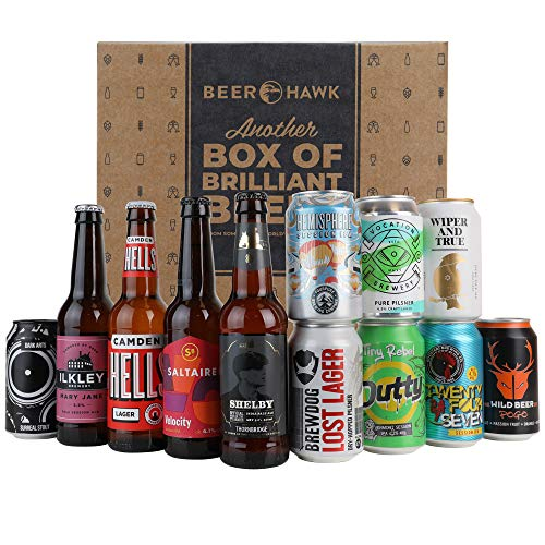Beer Hawk Best of British Beer Case - 12 Beers per Case - British Beer Gift Idea for Beer Lovers