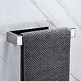 Lolypot Portasciugamani da parete Portasalviette senza foratura acciaio inox autoadesivo cromato bagno da Porta Asciugamano Accessori per il Bagno