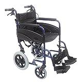 Aidapt VA170BLUE Kompakter Transport-Rollstuhl aus Aluminium, blau -