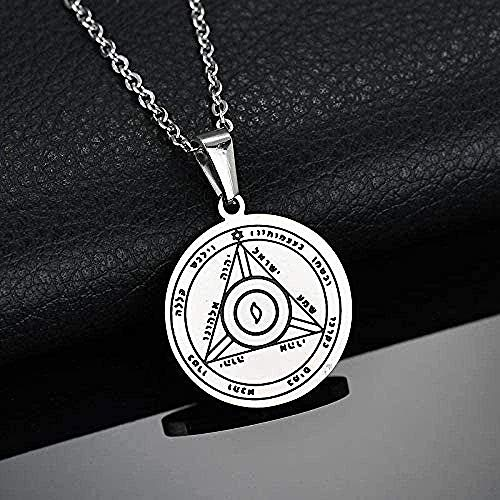 SHIERSHIYI Necklace Fashion Women Mens Pentacle of Sun Talisman Key of Solomon Seal Pendants Necklaces Hermetic Enochian Pagan Wiccan Jewelry