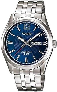 ساعة من كاسيو مع حركة كوارتز يابانية Plateado / Azul