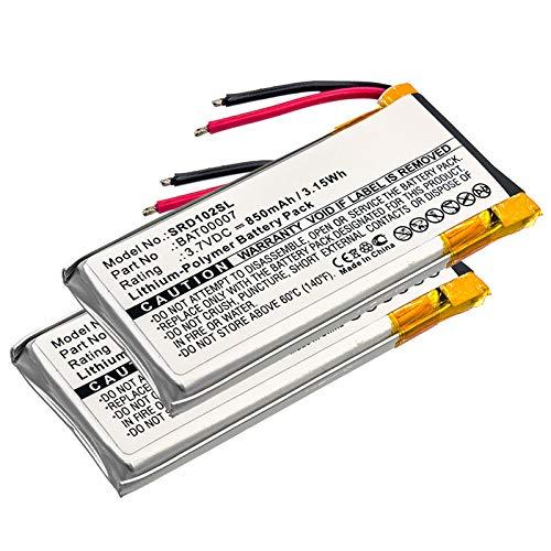 subtel 2X Batería Premium Compatible con Cardo Scala Rider Packtalk Duo, BAT00007, SRPT0102 850mAh Pila Repuesto bateria