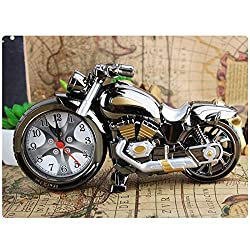 junfeng Cartoon Alarm Clock Motorcycle Shape Alarm Clock Home Birthday Gift Clock Motorbike