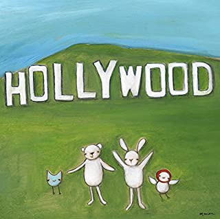 Oopsy Daisy, Fine Art for Kids We're in Hollywood Stretched Canvas Art by Creative Thursday by Marisa, 14 by 14-Inch