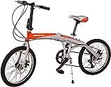 Benotto OPEATH2007UNPL Bicicleta Plegable de Aluminio Rodada R20, Unisex, 7 Velocidad