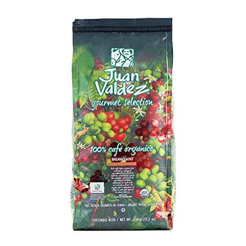 Goya Orgánico Balanceado Juan Valdez En Grano, Café, 1000 Gramo