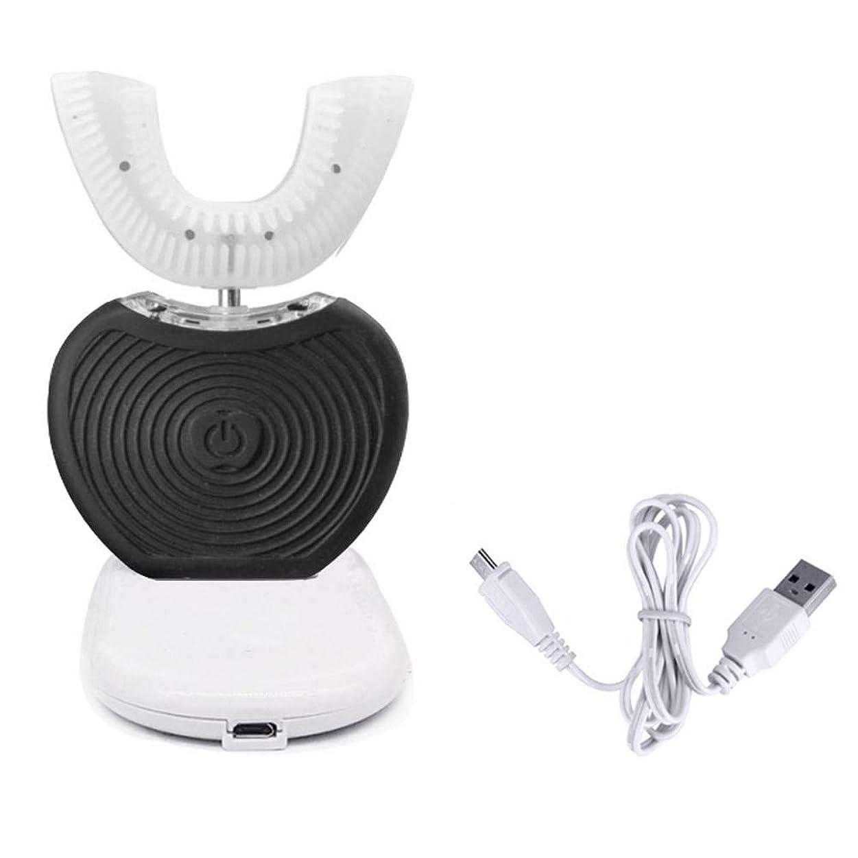 決定する折優先権電動歯ブラシ 自動歯ブラシ USB ポータブルインテリジェント フルオート 可変 周波数360° 電動歯 ブラシ歯 冷光 白色化装置