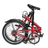 TYXTYX Bicicletta Pieghevole piegabile a 6 rapporti da 20 Pollici,Adulto Uomo Donna Leggera Bici da Cittagrave,Trasporto Facile