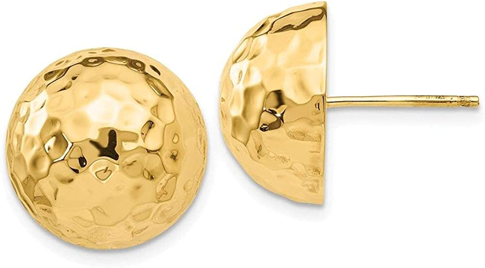 Jewelry-14k Hammered Max 48% OFF Half Ball Post Ranking TOP16 Earrings