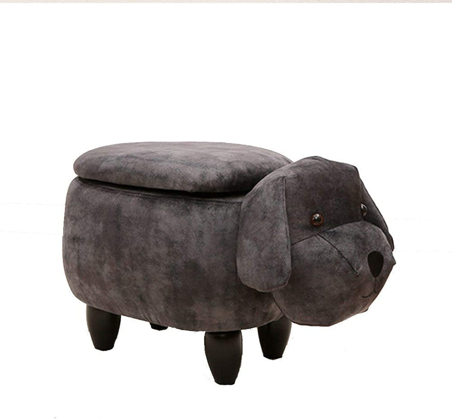 Stool Chair Multi-Function Storage Stool Creative Design Solid Wood Storage Dog Stool Cloth shoes Bench Home Sofa Bench (color   A, Size   2)