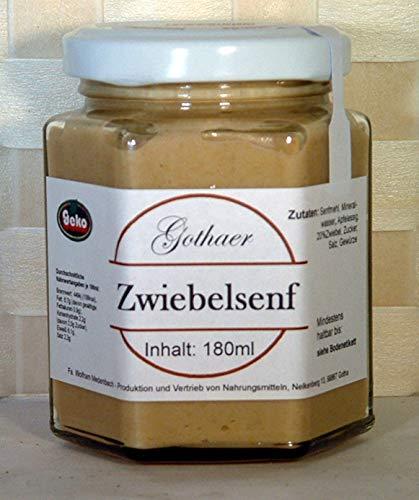 Original-Gothaer-Senf im Sechseckglas a´180ml - OVP - in Varianten (Gothaer Zwiebelsenf)