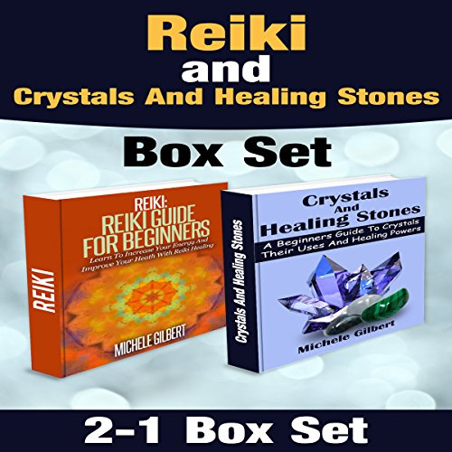 Reiki and Crystals and Healing Stones Box Set  audiobook cover art