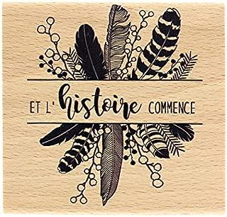 Florilèges Design Stamp ff117037The Story Begins Wood 8x 8x 2.5cm