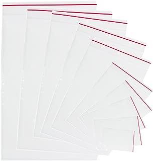cierre de cremallera bolsas de plástico transparente agarre autoadhesivo de prensa polietileno Seal resellable bloqueo bolsa (1pack–100pcs.) 6x8cm