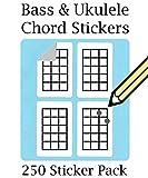 Adesivi per tablatura e diteggiatura per basso, ukulele e mandolino Chord e tablature diteggiatura adesivi (250pezzi)