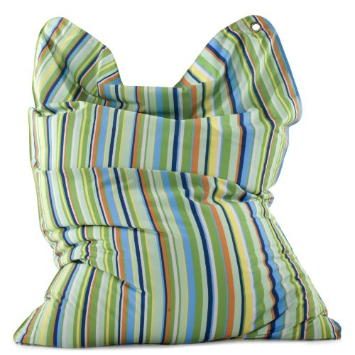 Sitting Bull 633022 Sitzsack Fashion Bull / 190 x 130 cm / Stripes Green