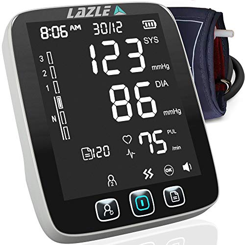 Great Features Of [All New 2020] Blood Pressure Monitor by LAZLE: Automatic Upper Arm Machine & Digi...