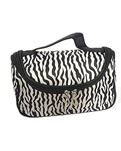 SAMGU Fashion Zebra Voyage Wash Stockage de Toilette Case Pouch cosmétiques Maquillage Bag Color Noir