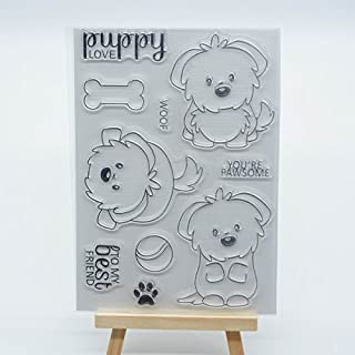 Welcome to Joyful Home 1pc Cute Puddy Clear Stamp for Card Making Decoration and Scrapbooking