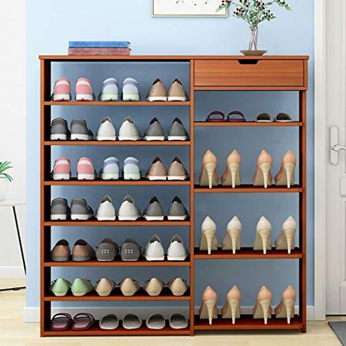 Zapatero Shoes Rack Zapatero Estante Del Zapatos Del Organizador Del Almacenaje Del Zapato Del Cajón Del Gabinete De Múltiples Capas De Estantes De Madera Armario De Zapato De La Sala De Estar Puerta