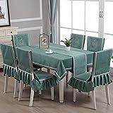 Generic Tischdecke Kunst rechteckige Baumwolle Leinen Plaid Tischdecke Esszimmerstuhl Abdeckung Haushalt Stuhl Set Tisch Flagge