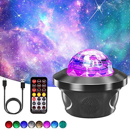 Sternenhimmel Projektor, Ozeanwellen Sternenlicht Projector Light mit Bluetooth Lautsprecher/ USB-Player/ Timer, Nachtlicht Sternenhimmel Lampe für Kinder & Erwachsene