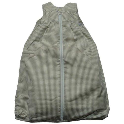 TAVO Schlafsack Teddyfutter kleines Karo Größe: 70 Farbe: beige-weiß