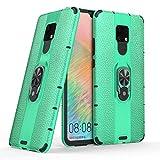 LYYJIAJU Caja del TeléFono Celular For Huawei Mate 20 X, la Textura del lichí de PC + TPU Combinación de la Caja del teléfono con el sostenedor del Anillo magnético (Color : Green)