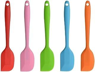 Voarge 5-częściowy zestaw szpachelek silikonowych z rdzeniem metalowym, idealny do gotowania i pieczenia, wysokiej jakości...