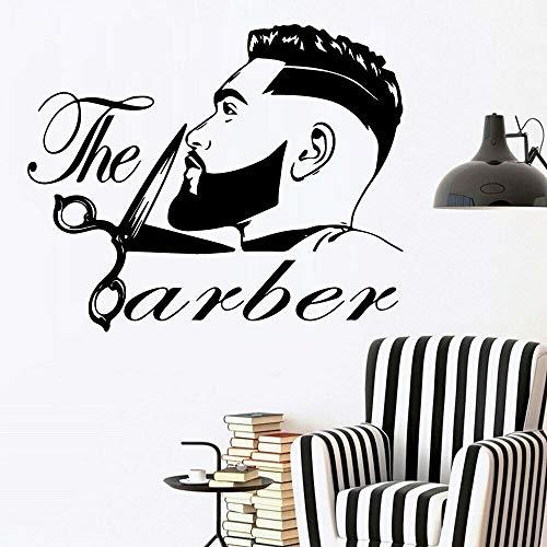 fdgdfgd Friseur Wandtattoos Mode Friseur Haarschnitt Haarstyling Friseur Vinyl Wandaufkleber Wohnkultur Tapete 42x34cm