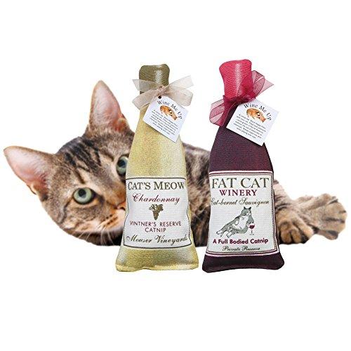 Alice's Cottage Wine Me Up Fun Catnip Toys - Wine Bottle Shaped