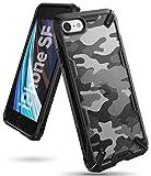 Ringke Fusion-X Diseñado para Funda Apple iPhone SE 2020, iPhone 8, iPhone 7 (4.7') Carcasa Protección Resistente Impactos TPU + PC Funda para iPhone SE 2020 iPhone 8/7 - Camo Black
