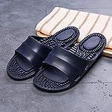 Zapatillas Casa Chanclas Sandalias Zapatillas De Masaje De Interior Planas Unisex Sandalias Antideslizantes Zapatillas De Baño De Fondo Suave para Hombres Y Mujeres Zapatillas De Casa-7-Navy_Men_
