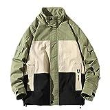 N\P Herrenmantel mit Stehkragen, lockerer Mantel, farblich passende Freizeitjacke Gr. 56, grün