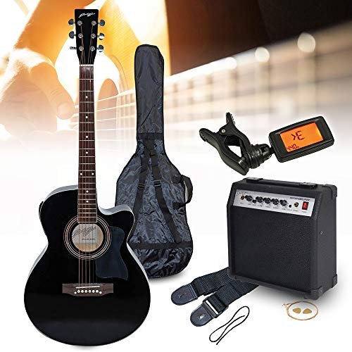 ELV Johnny Brook Electro-Acoustic Guitar Kit with 20W...