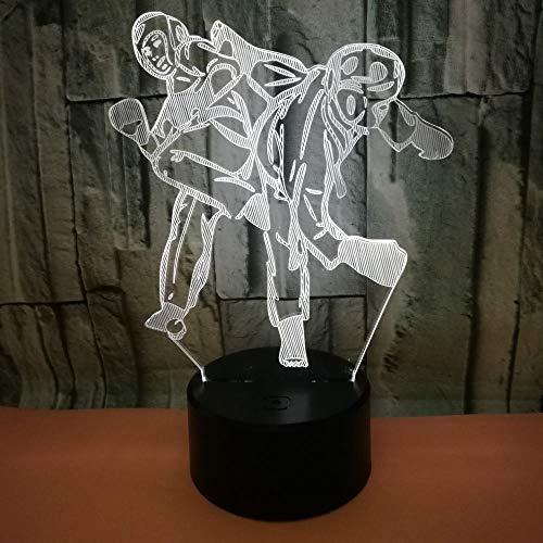 jiushixw 3D acryl nachtlampje met afstandsbediening kleurverandering tafellamp cadeau Valentijnsdag bedlampje decoratie visuele slaapkamer stereo tafellamp groen